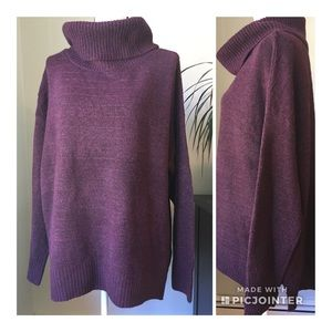 Old Navy size XL maroon cowl neck boxy sweater